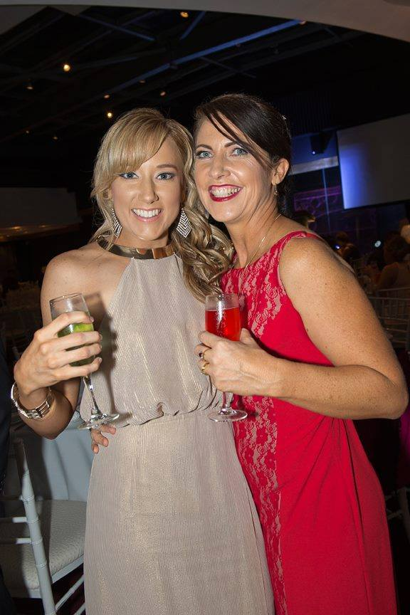 Salon Coordinator Belinda with Franchisee Julie at Brazilian Beauty's annual Awards Ball in 2014
