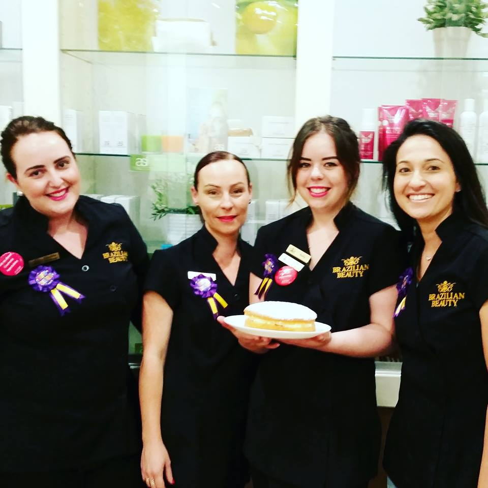Helen Clifton (far right) celebrating Fairfield's first birthday this November